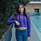 Thumbnail: 360 purple crop top hoodie