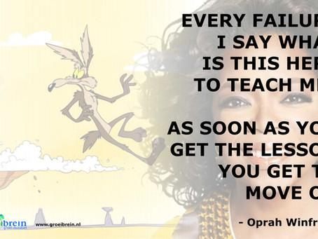 Oprah, fouten maken en 'The Coyote effect'