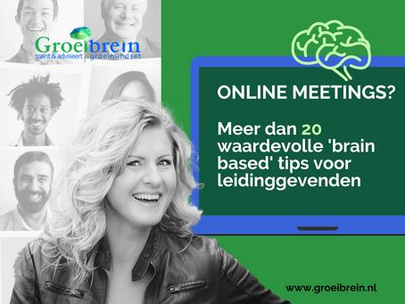 Succesvolle online meetings - waardevolle tips voor leidinggevenden
