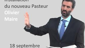 Installation du nouveau Pasteur