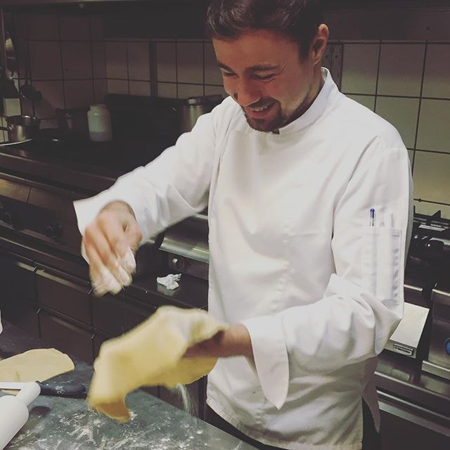 Our #chefigor at work #semelihotel #semeligroup #bestintown #mykonos2016 #thionirestaurant