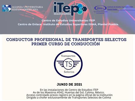 """Servicio de Transporte Privado Selectos de Colima: """"Curso de Conducción Profesional 2021"""""""
