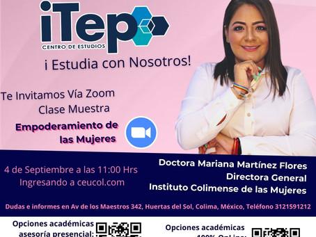 Dra. Mariana Martínez Flores I Derechos Humanos de las Mujeres I Universidad ITEP