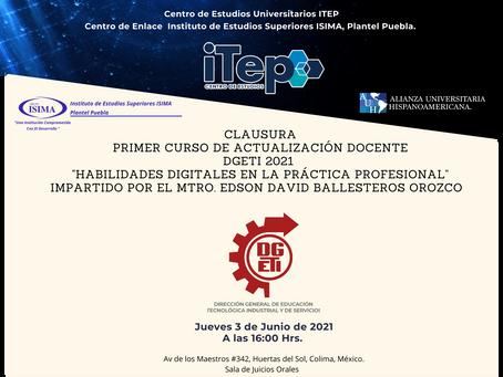 """DGETI COLIMA CULMINA EL PRIMER CURSO ESTATAL """"HABILIDADES DIGITALES EN LA PRÁCTICA PROFESIONAL"""""""