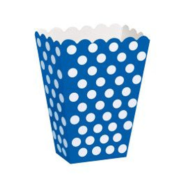 Box Treat Dots Blue 8Ct