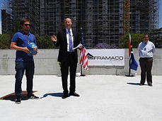 TOPPING OUT CEREMONY US CONSULATE JOHANNESBURG, SOUTH AFRICA