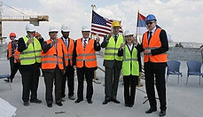 TOPPING OUT CEREMONY NEW EMBASSY BELGRADE SERBIA, MAY 2011