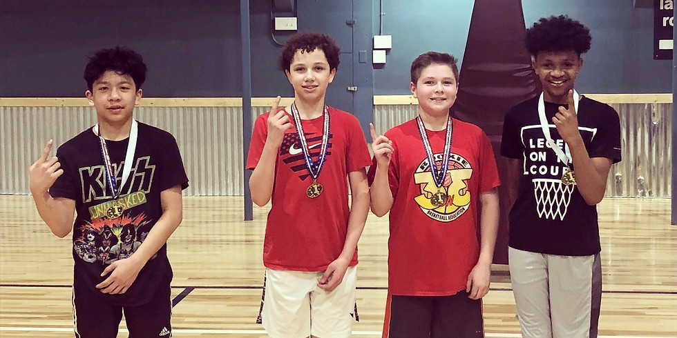 7th-8th grade boys basketball 3 vs 3 Tournament  03/12/20