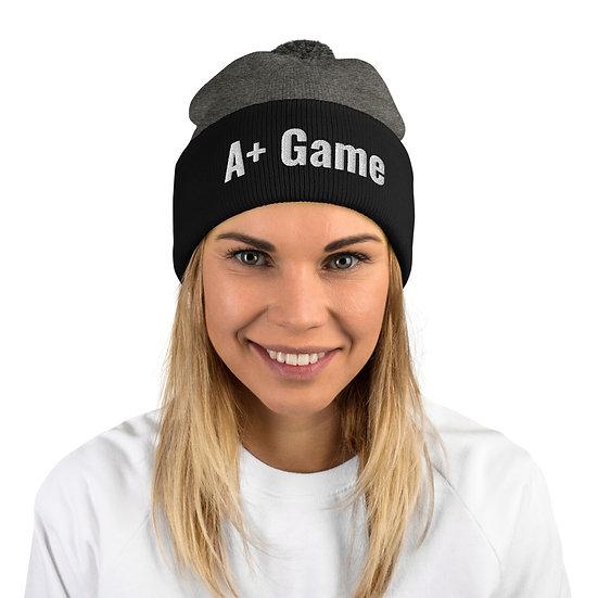 A+ Game Pom-Pom Beanie