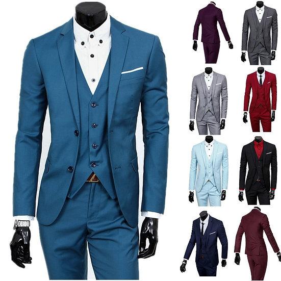Suit Men Men's Two-Button Business Casual Three-Piece Suits
