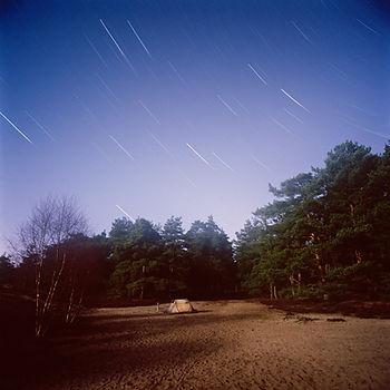 Sterne, startrails, frensham ponds, sternstreifen, zelten,