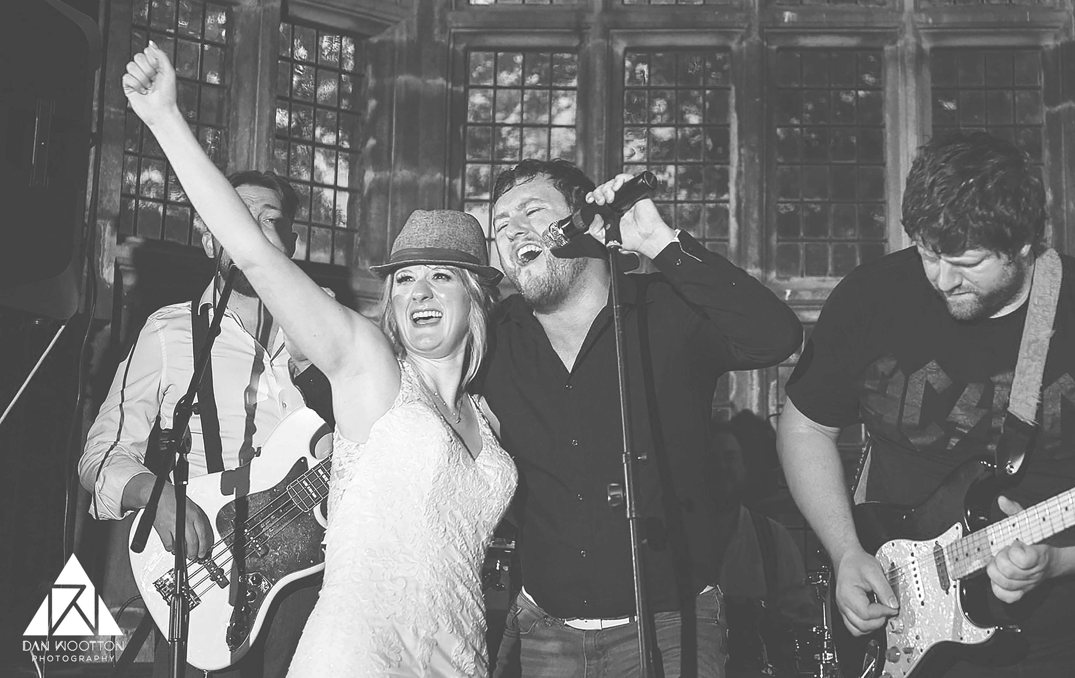 Bride rocking with the band