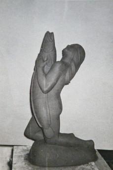 Hafmey - ein af fjórum ólíkum gerðum gosbrunnsstyttna – A mermaid, one of four different statues for fountains.