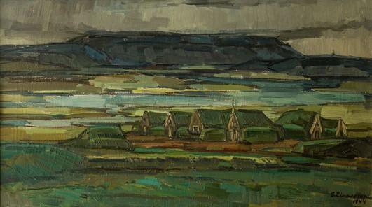 Gamall sveitabær (staður óþekktur) 1944 M – An old farm M