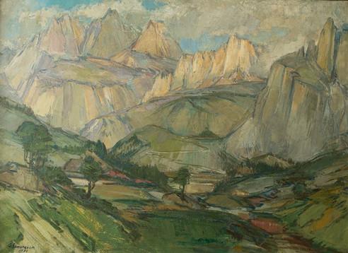 Í stað núv. myndar; Schwarzenstein, Austurríki 1936 S – From Southern Tyrol, Schwarzenstein S