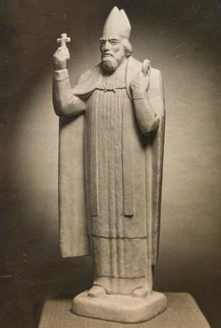 Jón Arason biskup - frummynd (gifs). Eirstytta sett upp að Munkaþverá í Eyjafirði. A 16th century bishop (prototype) - the sculpture cast in bronze is at Munkaþverá in Eyjafjörður.