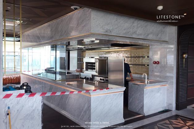 โครงการตกแต่ง Counter bar ร้านอาหาร Sky Red @ Embassy