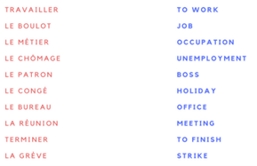 WORK-RELATED WORDS