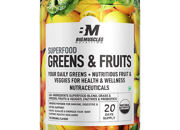 Bigmuscles Nutrition Superfood Greens And Fruits