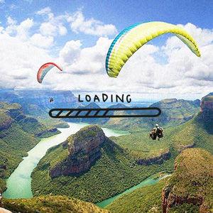 Arta Citko paragliding in Africa
