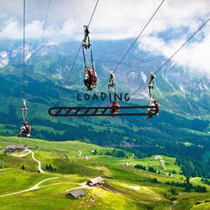 Arta Citko ziplining in alps
