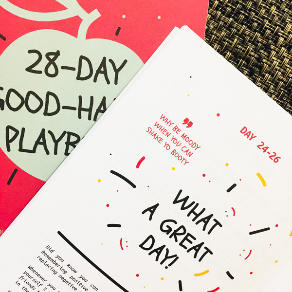 28-Day Good-Habit Playbook by Arta Citko - What A Great Day CBT technique