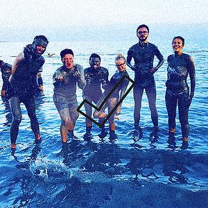 Arta Citko sandboarding in Israel
