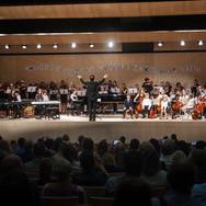Latvijas Suzuki vasaras meistarklases fināla koncerts Nacionālajā bibliotēkā 2019. gada augustā.