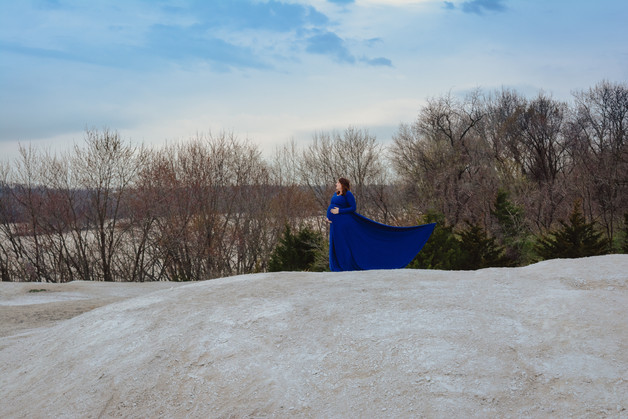 Blue dress maternity