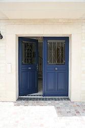 輸入住宅施工例/防犯性能の高いフランス製内開き玄関ドア