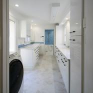 住宅施工例。パウダールーム&ランドリールーム