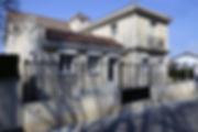 輸入住宅/住宅施工事例/イタリア産のロートアイアンで作られたフェンス。