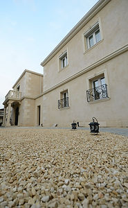 賃貸住宅施工事例/イタリアの大理石の砂利