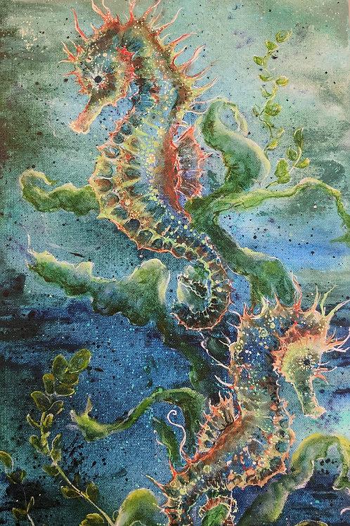 Seahorse Wooden Print