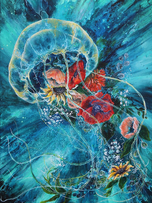 """Jelly Flower"" Paper Print"