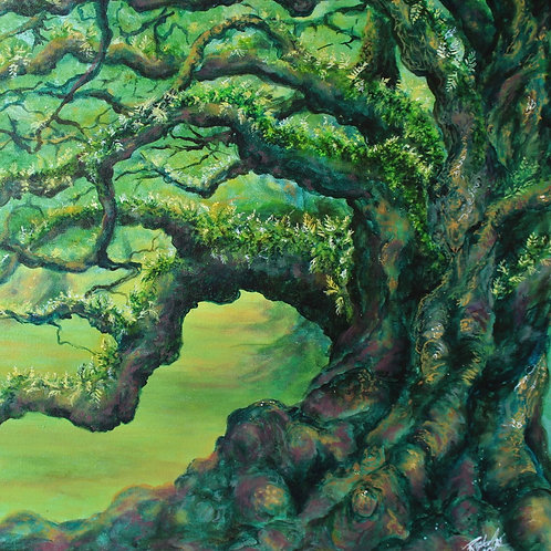Oak with Resurrection Fern