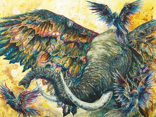 """""""Birds of Carnival"""" Paper Print"""