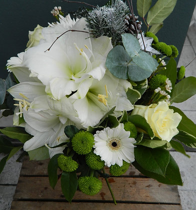 Cool White  Hand Tied Bouquet