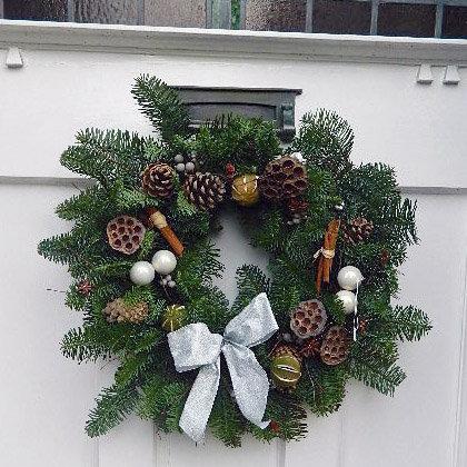 Festive Silver Christmas Wreath