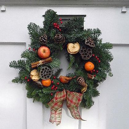 Fresh Fruit Christmas Wreath