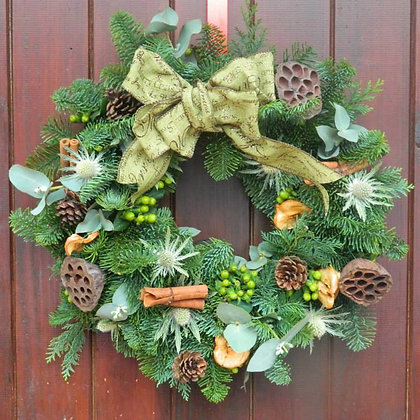 Luxury Green Christmas Wreath
