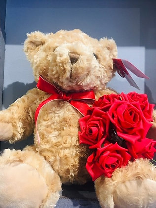 Plush Valentines Roses Ted