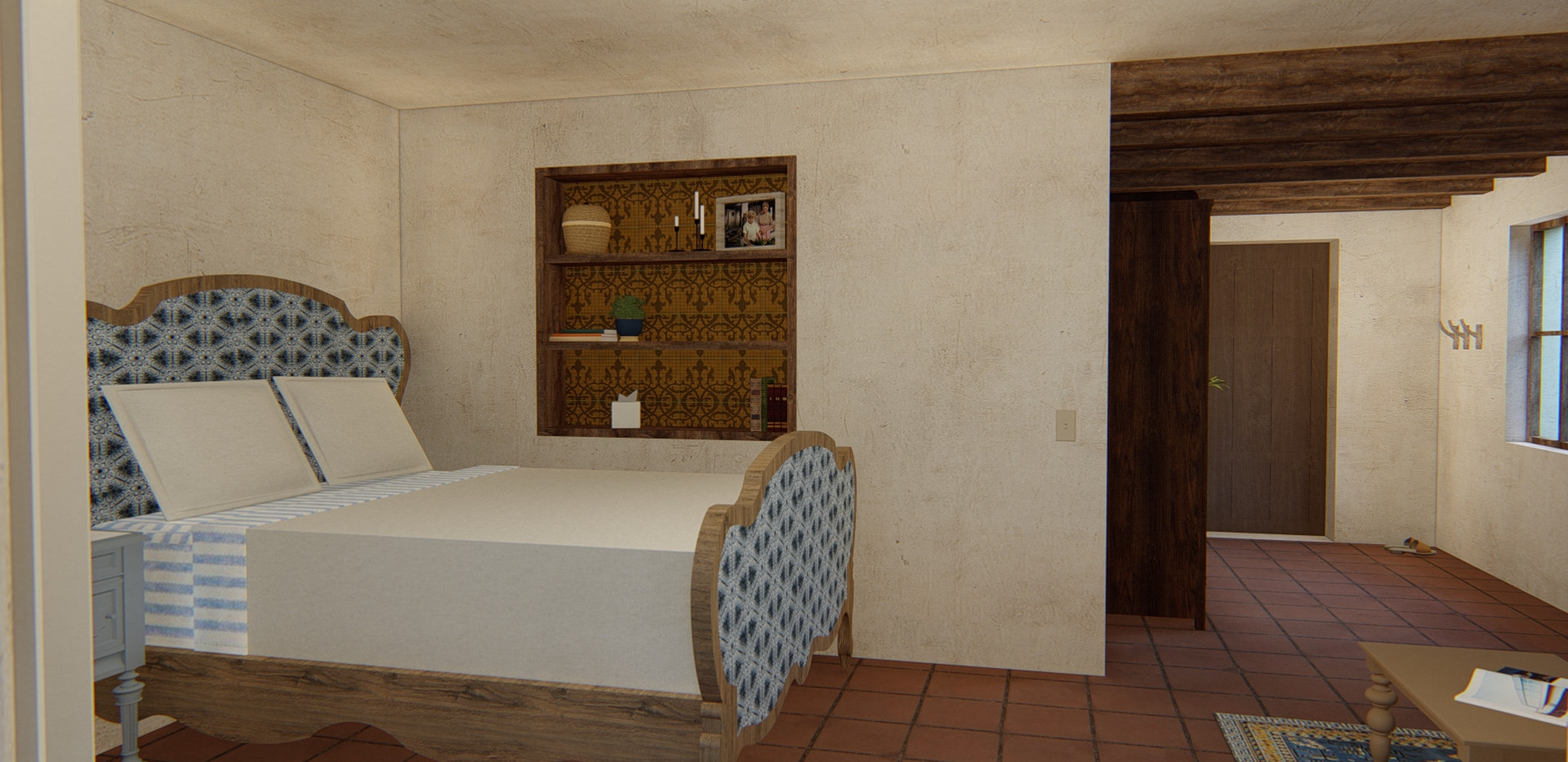 Casita - view of bed