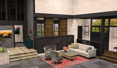 Brady Bunch living room renovation