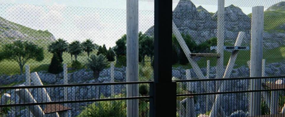 LA Wildlife Waystation - Chimp Village Exterior Playgrounds