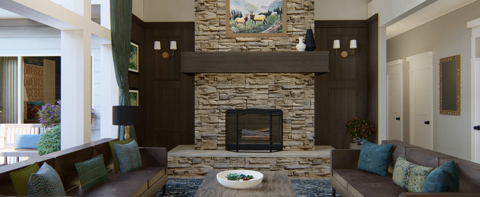 Living Room Remodel, fireplace wall