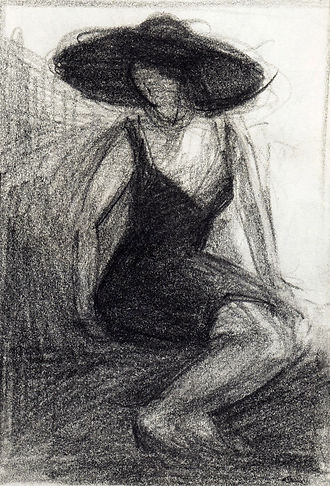Study for J. with a black dress