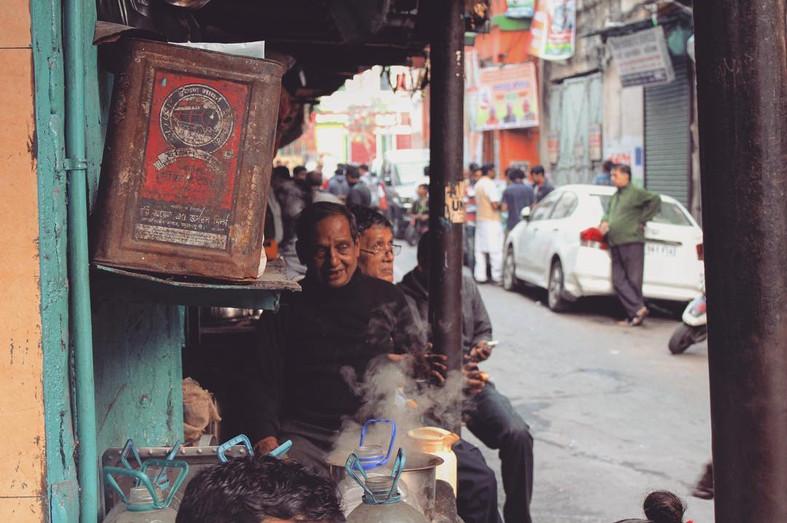 A tea vendor in Calcutta