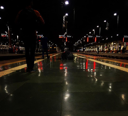 Nighttime on a station floor