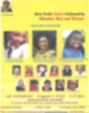 One Faith Fellowship 1st Sat 2020 Aug Fl